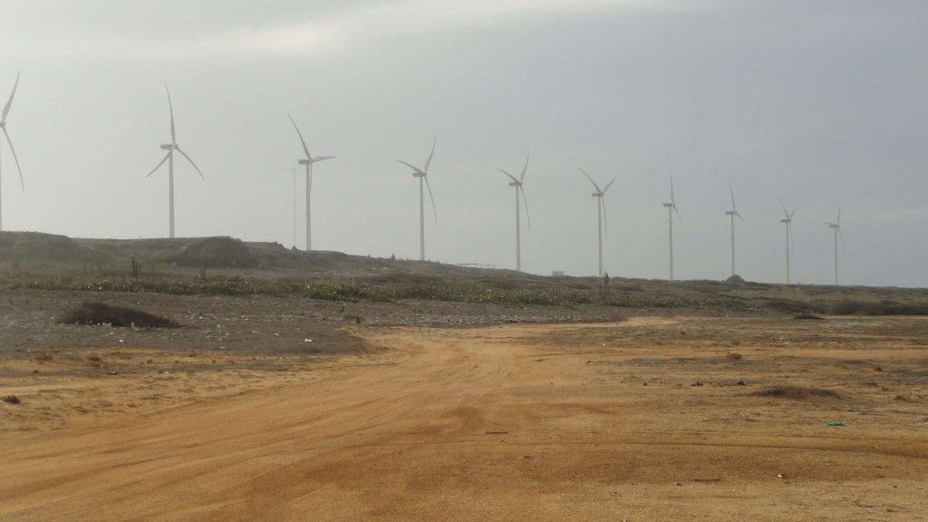 Vader Piet Windpark. Aruba