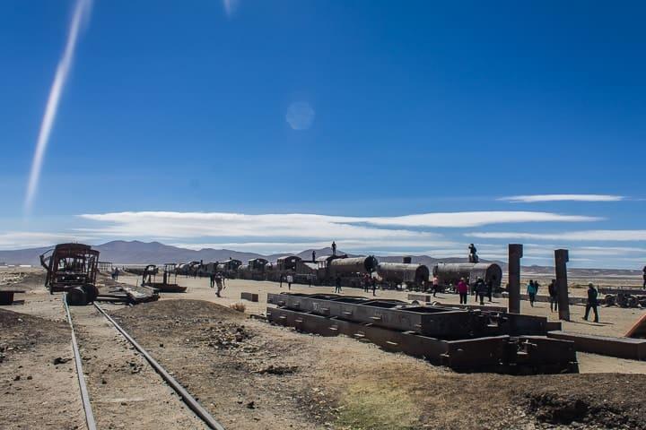 Primeiro dia no Salar de Uyuni - cemitério de trens