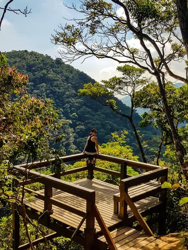 Trilha do Mirante da Cascatinha, na Floresta da Tijuca