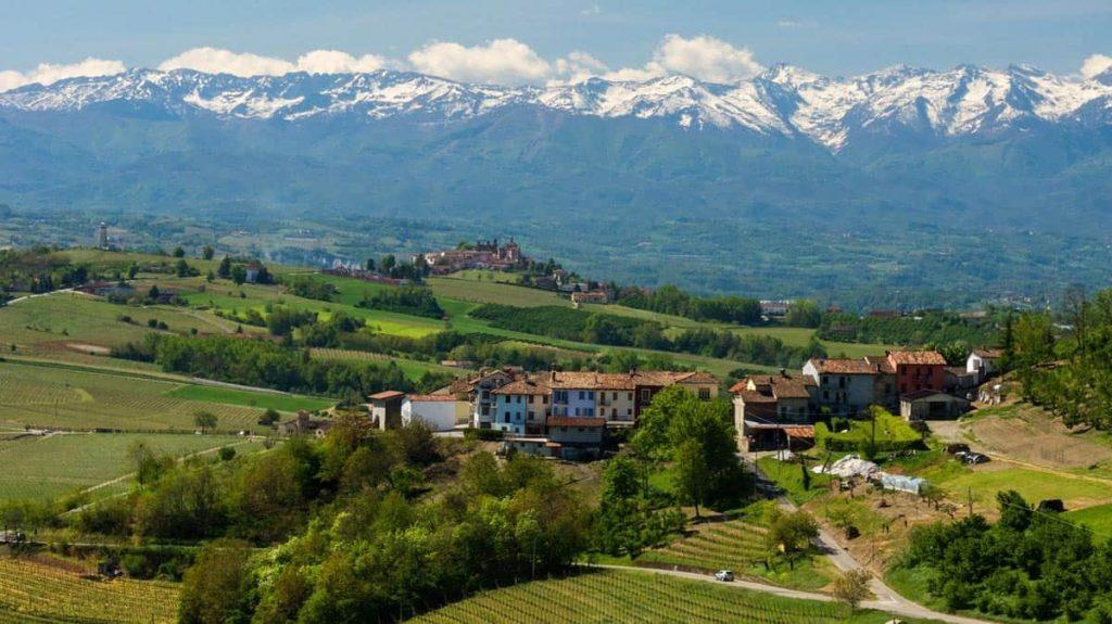 Piemonte, mapa da Itália
